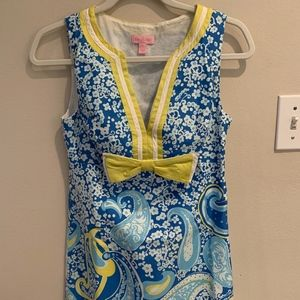 Lilly Pulitzer - Shift Dress- Blue - Size 2